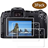 EOS RP Glass Screen Protector for Canon EOS RP Mirrorless Digital Camera, ULBTER 9H Tempered Glass Screen Protector Edge to Edge Protection,Anti-Scrach Anti-Fingerprint Anti-Dust Anti-Bubble [3 Pack]