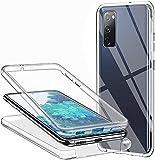 Hülle für Samsung Galaxy S20 FE Handyhülle 360 Grad, Transparent Full Schutz Kratzfest Dünn Durchsichtige Hülle Silikon Schutzhülle, Hart PC Zurück + Weich TPU Vorderseite