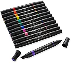 Prismacolor Marker Set, 12 Pieces, Chisel/Fine, Primary and Secondary Markers