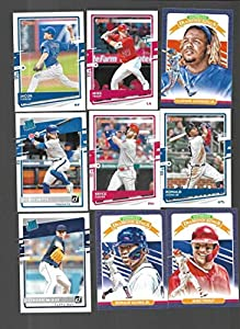 2020 Donruss Complete MLB Baseball Set of 262 Cards (1-260, 263 and 264) and 38 Image/Photo Variations NO Super Short Prints - Overall condition is NM. Includes stars like Mike Trout, Bryce Harper, Aaron Judge, Pete Alonso, Gleyber Torres, Ronald Acuna Jr