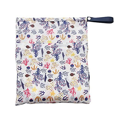 Chnrong Bolsa seca húmeda para pañales de tela, lavable para colgar pañales, bolsas de almacenamiento para ropa interior, artículos de tocador, ropa sucia, pantalones de pañales