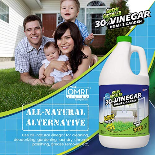 30% Pure Vinegar - Home&Garden (1 Gallon) | Concentrated Natural All Purpose Cleaner | Hundreds of Uses Indoors and Outdoors