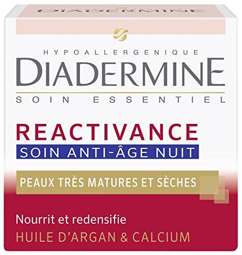 Diadermine - Réactivance - Soin Anti-Age Nuit à l'Huile d'Argan - 50 ml