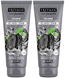 Freeman Feeling Beautiful Charcoal & Black Sugar Gel Mask and Scrub, 6-Ounce (Pack of 2)