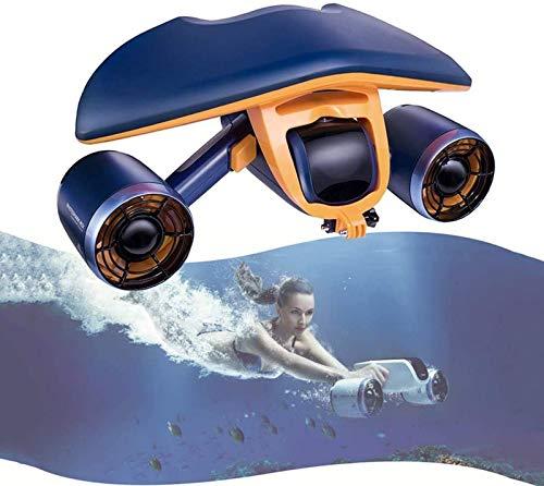 aipipl Scooter submarino, velocidad de Agua estática de 1,5 m/s, empuje de hélice Doble de Hasta 8 kgf, dron submarino, adecuado para Nadar en la Playa del parque acuático