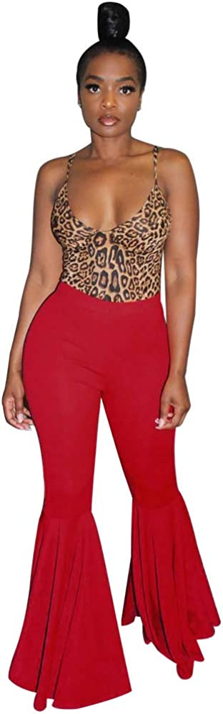 SALENEW very popular! Adogirl Women Ruffle Flare Ranking TOP1 Bottom Pants Wide Leg Bell Bo Mermaid