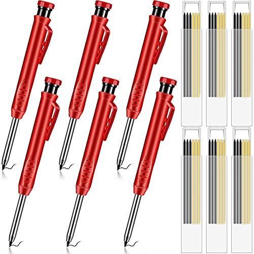 6 Pieces Solid Carpenter Pencils wi…