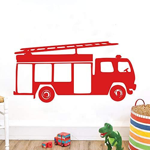 ufengke Wandtattoo Feuerwehrauto Vinyl Wandsticker Wandaufkleber Wanddekoration Kinderzimmer Wohnzimmer