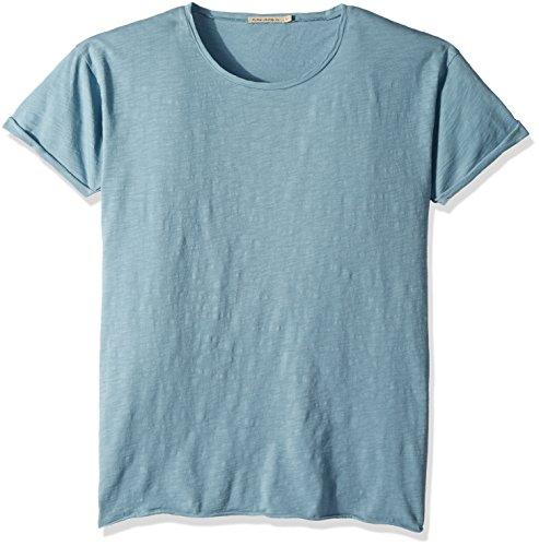 Nudie Jeans Unisex-Erwachsene Roger Slub T-Shirt, Blaues Metall, XX-Large