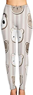High Waist Yoga Pants, Tummy Control Workout Running Pants Vector Flower Seamless Pattern