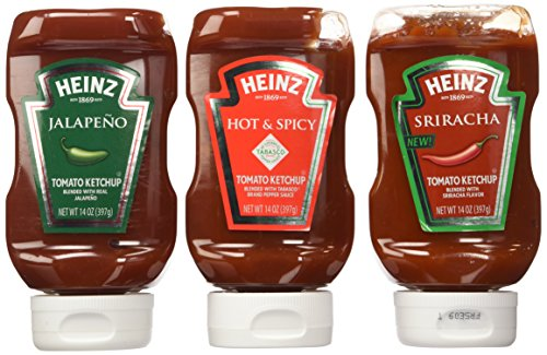 Heinz Spicy Ketchup Lovers Variety Pack: Sriracha, Jalapeno, & Spicy