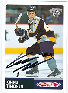 Autograph Warehouse 64584 Kimmo Timonen Autographed Hockey Card Nashville Predators 2003 Topps Total No. 331