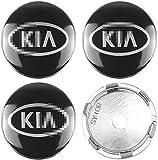JIEMIANY 4-teiliges 60mm Auto Rad Radnabenkappen, Radnabenkappe Logo Aluminium für KIA Rio ceed sportage Sorento k2 k3 k4 k5