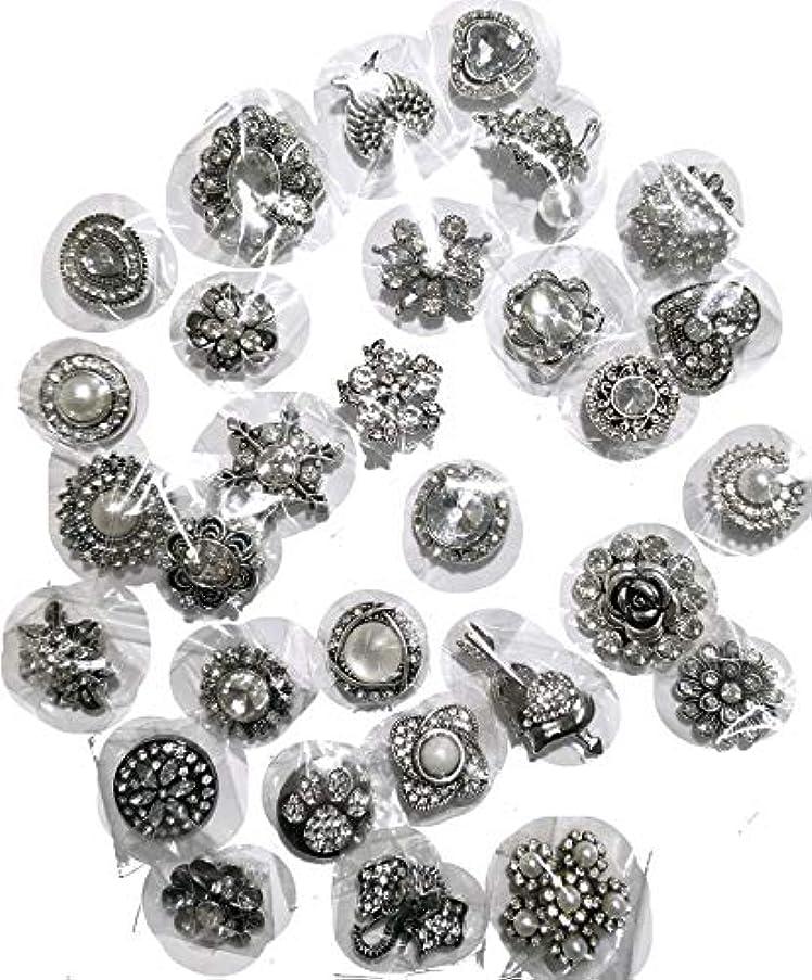 Ladieshow Snap Button Jewelry Mix Rhinestone Diamonds Alloy snap Button