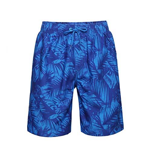 Rokka&Rolla Men's Quick Dry Drawstring Waist Beach Swim Trunks Board Shorts