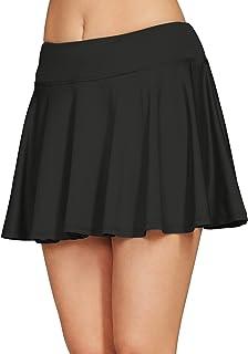 Cityoung Women Running Golf Skort Plus Size Pocket Girl Athletic Tennis Skirt Shorts Underneath s Black