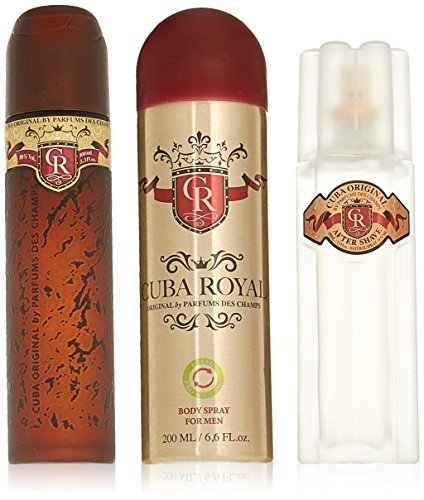 Cuba Royal by Cuba, 3 Piece Gift Set for Men