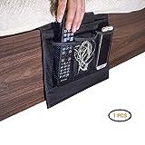 Betttasche Organizer, Nachttisch Organizer 4 Taschen Bett Sofa zum Aufhängen Halterung Tasche für Buch Handy Gläser TV Fernbedienung