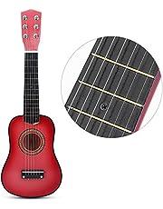 子供用 おもちゃ ギター 初心者モデル21インチ ミニギター 楽器 知育玩具 写真 撮影用 ギフト(ピンク)