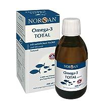 Omega-3 Total Naturell (200ml) - flüssiges Omega-3 Öl/Fischöl - 2.000 mg Omega-3 pro Portion