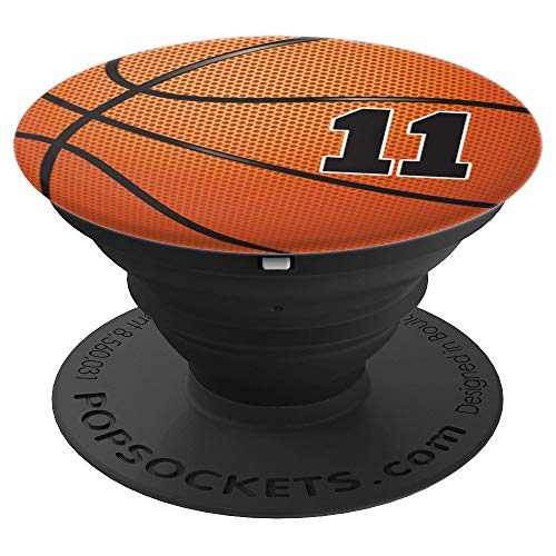 Basketball Fan #11 Trikot No 11 Basketball Pop Griffe Gift - PopSockets Ausziehbarer Sockel und Griff für Smartphones und Tablets