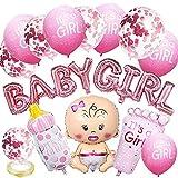 Decoraciones de Baby Shower para niña Globos de fiesta rosados Nesloonp...