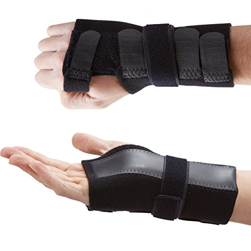 Actesso DELUXE handgelenkbandage handgelenkschiene - Ideal zur Reduzierung von Schmerzen in Zusammenhang mit Karpaltunnelsyndrom, Verstauchungen und Arthritis des Handgelenks - medizinisch bewährt (Mittelgroß Rechts)