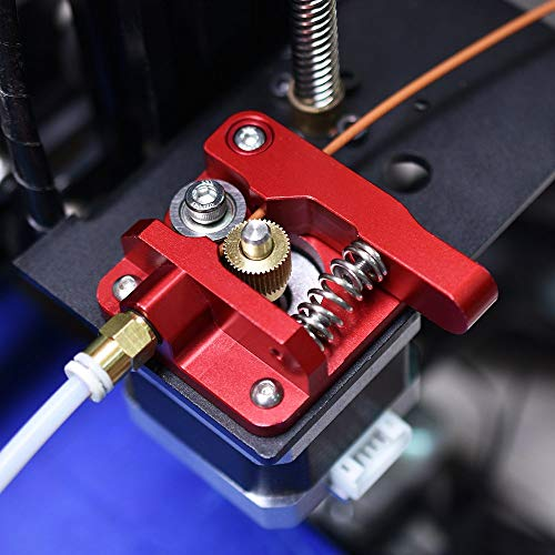KINGPRINT Upgraded Replacement 3D Printer Part MK8 Extruder Aluminum Block Bowden Extruder 1.75MM Filament Reprap Extrusion for CR10/CR-10/CR-10S DIY(Red)