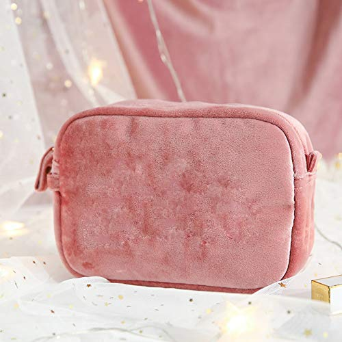 Kcakek Draagbare make-up tas Travel draagtas Eenvoudige toiletartikelen Storage Bag make-up tas Simple Stofdichte Storage Bag Cosmetische Storage Bag for Ring sieraden en nagellak