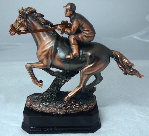 Plaqué cuivre antique Horse Racing Figure avec Livraison gratuite