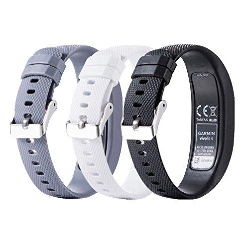 Meiruo Ersatz Zubehör Fitness Band für Garmin Vivofit 4, Armband für Garmin Vivofit 4 (L, Colour 3)