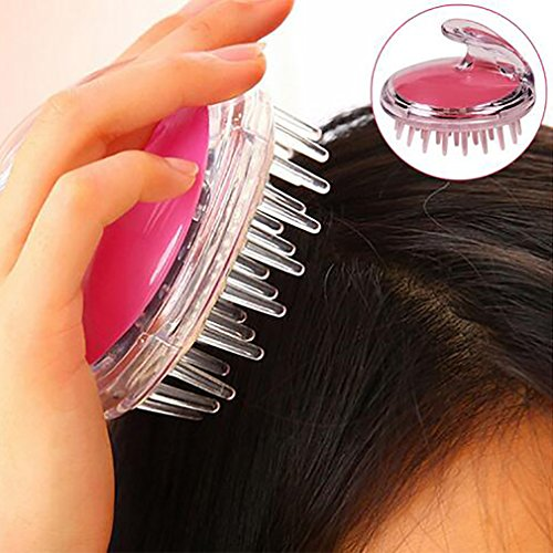 Tête Cheveux Lavage Scalp Shampooing Air Brosse Peigne Doux Masseur Brosses Silicone Nettoyage Soins Outil Sain Réduire La Perte De Cheveux,Pink