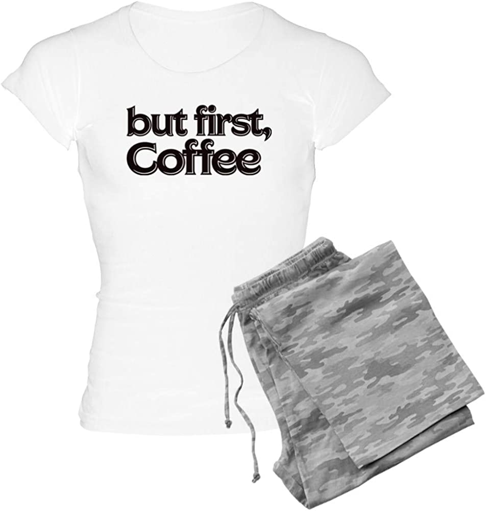 CafePress But Discount mail order First Coffee PJs Women's Milwaukee Mall