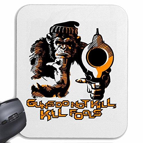 Tapis de souris Mousepad (Mauspad) CHIMPANZEE GORILLA AVEC ET SCEPTER CHIMPANZEE CROWN MONKEY GORILLA APE SILVER orang-outan RETOUR GIBBON pour votre ordinateur portable, ordinateur portable ou PC In