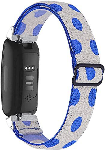 Correas de repuesto de nailon compatibles con Inspire HR/Inspire 2, pulseras deportivas suaves y elásticas transpirables para hombres/mujeres