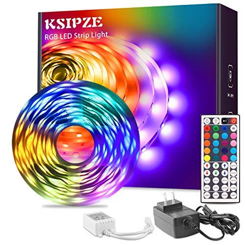 Ksipze RGB Led Striscia Luci 7,6 m Cambiare Colore con 44 Key Remote Kit per Camera Camera Da Letto Cucina Casa Interno