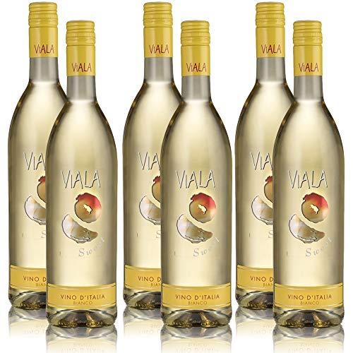 6 Flaschen Viala Sweet Bianco, süsser Weisswein aus Italien (6 x 0,75 l)