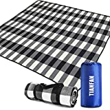 TIANFAN Outdoor Picnic Blankets, Picnic Blanket 80×80 inch Large Waterproof Foldable, Sandproof Beach Blanket Mat for Travel,Camping,Family Hiking