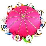 Diseño de flores retro de aguja Rimobul para niños con alfiletero 10 - Magenta...