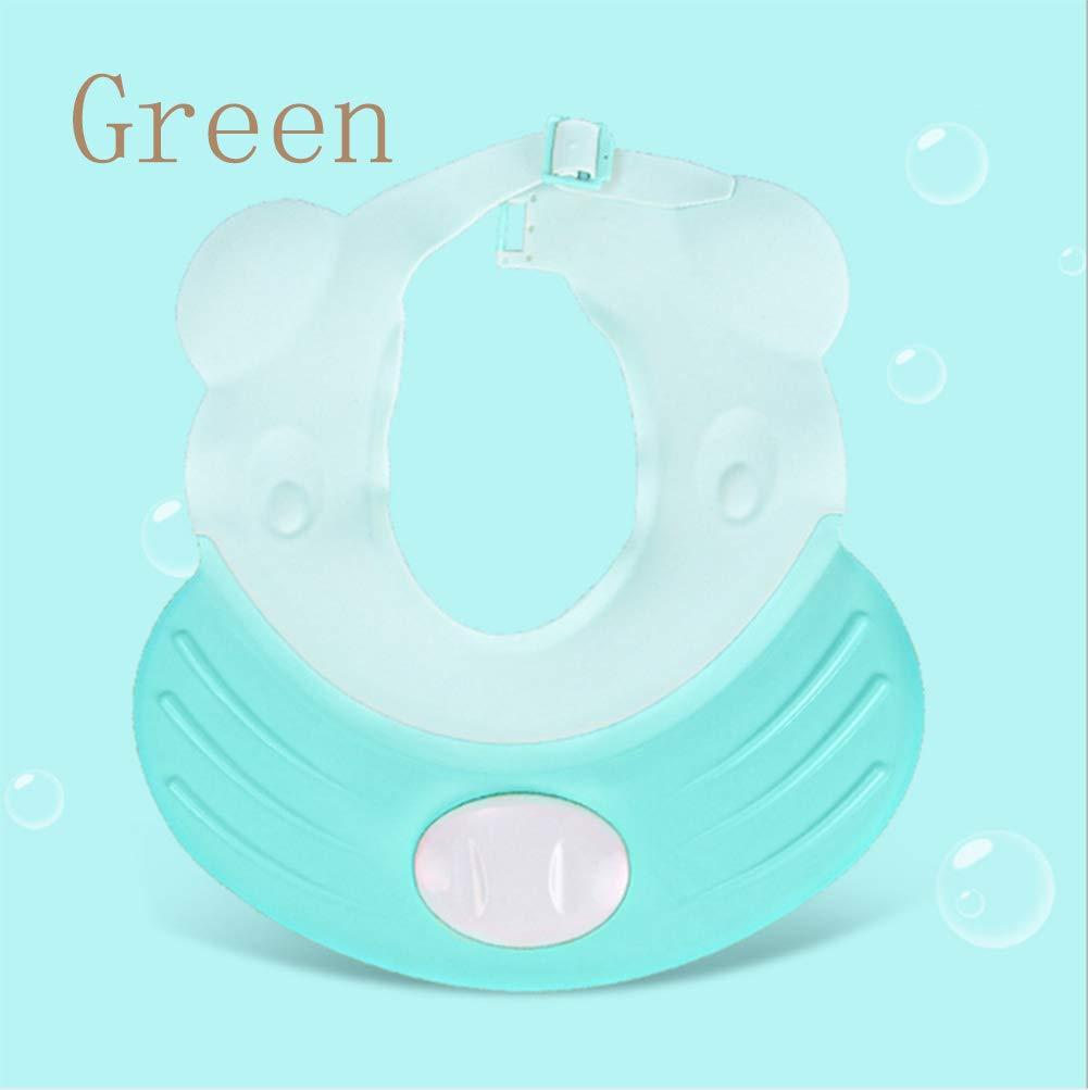 AKOAK 1 Pack Beautiful Baby Shampoo Cap Durable Adjustable Waterproof Ear Protector Baby Shower Cap Thickened Baby Cap Waterproof Cap