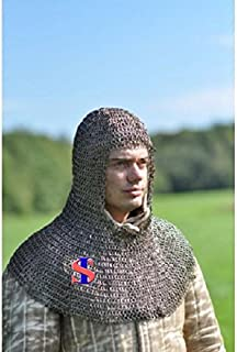Chainmail Hood/Coif 10 mm Flat Riveted MS – Medieval Armor