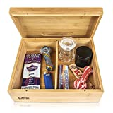 Rolling Tray Stash Box - Extra Large Bamboo Box w/Ample Storage Space to Organize Herb Accessories - Comes with Convertible Rolling Tray Lid