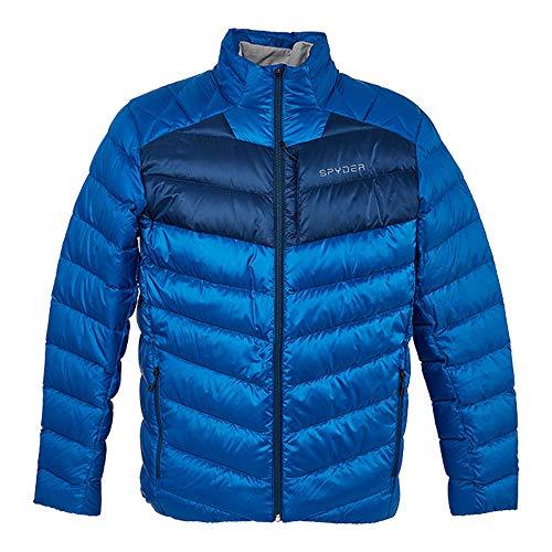 Spyder Men's Timeless Down Jacket – Paneled Puffy Lightweight Full Zip (XX-Large, Old Glory)