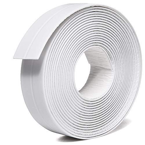 TYLife PE Caulk Tape Strip,Self-Adhesive Tub Caulking Sealing Tape for Kitchen Sink Toilet Bathroom Shower and Bathtub Floor Wall Edge Protector-8/9