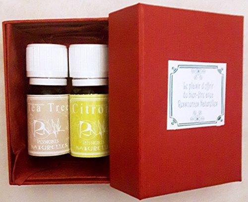 """Coffret de 2 huiles essentielles""""Belle peau"""" - tea tree et citron - Ressources Naturelles"""