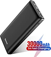USB C Power Bank, Baseus 30000mAh Fast Charging External Battery Pack, 3 Output Port Portable Charger for iPhone 11 Pro Max, iPad, Mac, Samsung, Nintendo Switch, USB-C Laptops, Android and More