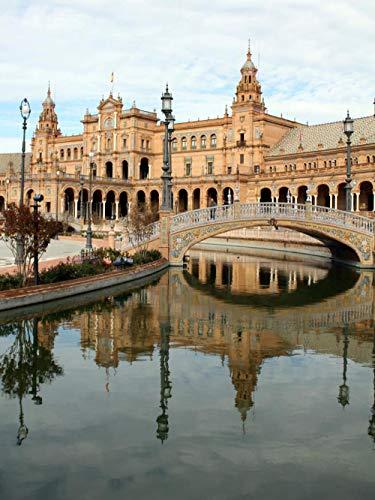 1000 Piezas Rompecabezas Juguetes Educativos Hermosa Plaza De España, Sevilla, España Rompecabezas Educativo para Niños 1000Piezas