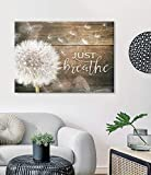 iGift Dandelion Just Breathe Poster Art Picture Home Wall Decor No Frame (24' x 36')