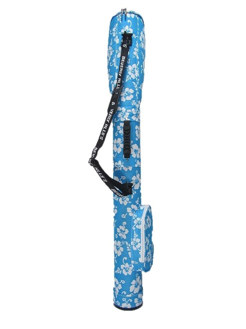 トラフィック確認する天気軽量 筒型クラブケース(5型アロハブルー)
