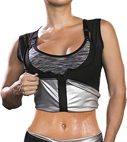 Damen Sauna Weste Shirt Premium Hot Polymer Shapewear Schwitz Anzüge Fitness Corsage Korsett Top Taillentrainer für Gewichtsverlust